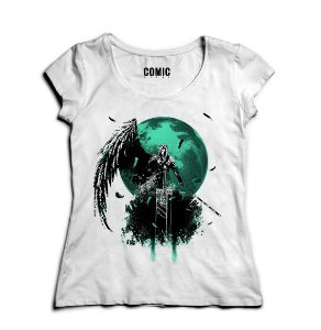 Camiseta Feminina  Final Fantasy VII - Final Battle Nerd e Geek - Presentes Criativos