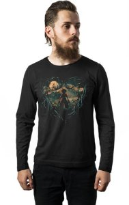 Camiseta Masculina Manga Longa Kingdom Hearts - Hunter of Darkness Nerd e Geek - Presentes Criativos