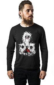 Camiseta Masculina Manga Longa  Naruto Sennin Modo Nerd e Geek - Presentes Criativos
