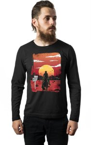 Camiseta Masculina Manga Longa Red Dead Redemption Way to nowhere Nerd e Geek - Presentes Criativos
