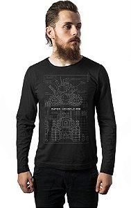 Camiseta Masculina Manga Longa Metal slug Blueprint  SV 001 Nerd e Geek - Presentes Criativos