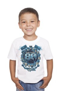 Camiseta Infantil Awesome 80 Nerd e Geek - Presentes Criativos