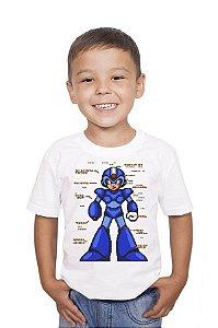 Camiseta Infantil Mega Man Nerd e Geek - Presentes Criativos