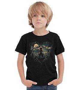 Camiseta Infantil Kingdom Hearts - Hunter of Darkness Nerd e Geek - Presentes Criativos