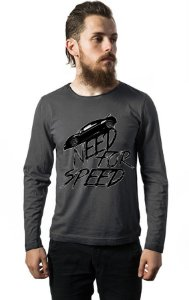Camiseta Masculina Manga Longa Need For Speed - Nerd e Geek - Presentes Criativos