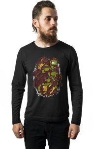 Camiseta Masculina Manga Longa The Green Team Nerd e Geek - Presentes Criativos