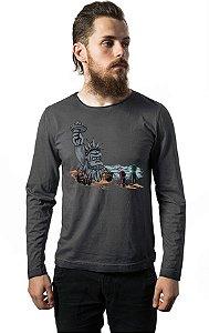 Camiseta Masculina Manga Longa The Planet of the Kong Nerd e Geek - Presentes Criativos