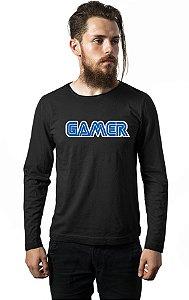 Camiseta Masculina Manga Longa Gamer Nerd e Geek - Presentes Criativos