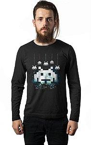 Camiseta Masculina Manga Longa Sparce Atari Nerd e Geek - Presentes Criativos