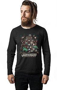 Camiseta Masculina Manga Longa War Nerd e Geek - Presentes Criativos