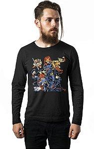 Camiseta Masculina Manga Longa Cats Nerd e Geek - Presentes Criativos