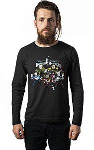 Camiseta Masculina Manga Longa Rangers Nerd e Geek - Presentes Criativos