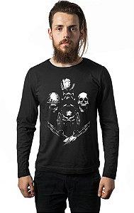 Camiseta Masculina Manga Longa Alien Nerd e Geek - Presentes Criativos