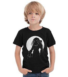 Camiseta Infantil Predador - Nerd e Geek - Presentes Criativos