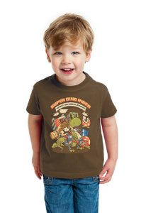 Camiseta Infantil Super Dino Rider - Hunter of Darkness Nerd e Geek - Presentes Criativos