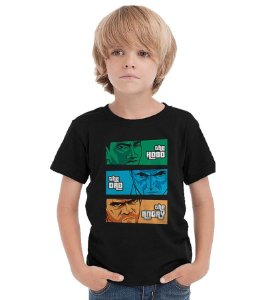 Camiseta Infantil The Hood, the Dad & the Angry Nerd e Geek - Presentes Criativos