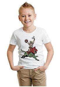 Camiseta Infantil Heman Nerd e Geek - Presentes Criativos
