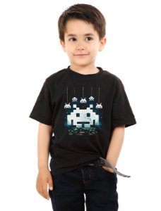 Camiseta Infantil Space Atari - Nerd e Geek - Presentes Criativos