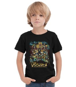 Camiseta Infantil Anime - Nerd e Geek - Presentes Criativos