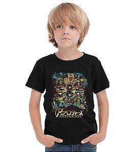 Camiseta Infantil Anime - Nerd e Geek - Presentes Criativos