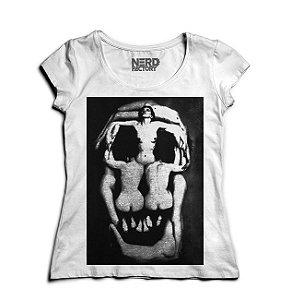 Camiseta Feminina Skull Corps - Nerd e Geek - Presentes Criativos