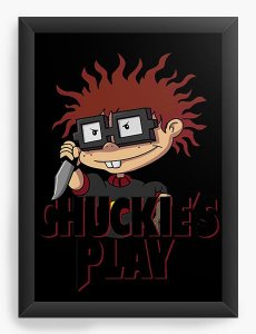Quadro Decorativo A4 (33X24) Chuckie Play  - Nerd e Geek - Presentes Criativos
