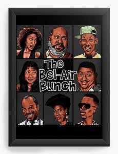Quadro Decorativo The Bel-Air Bunch - Nerd e Geek - Presentes Criativos