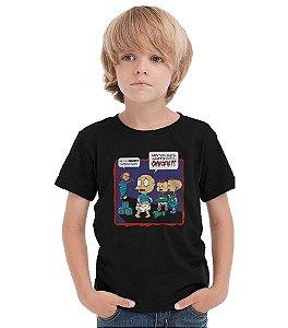 Camiseta Infantil Chuck - Nerd e Geek - Presentes Criativos