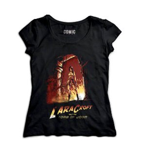Camiseta Feminina Tomb Of Doom - Nerd e Geek - Presentes Criativos