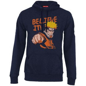 Blusa com Capuz Naruto Believe It - Nerd e Geek - Presentes Criativos