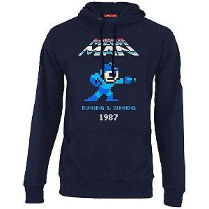 Blusa com Capuz Mega Man Nerd e Geek - Presentes Criativos