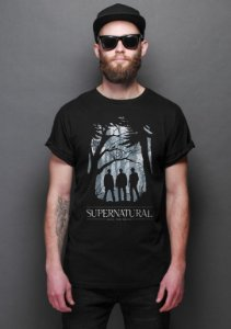 Camiseta Masculina Series SuperNatural  - Presentes Criativos