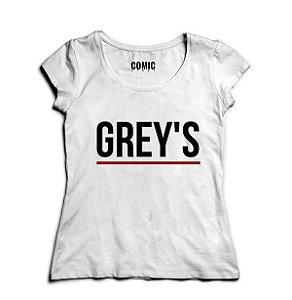 Camiseta Feminina Séries Greys Anatomy -- Presentes Criativos