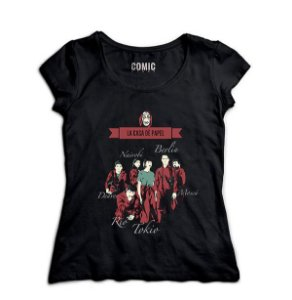 Camiseta Feminina Séries La Casa de Papel  -- Presentes Criativos