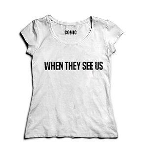 Camiseta Feminina Séries When They See Us - Olhos que Condenam