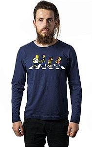 Camiseta Masculina Manga Longa Bullies Road - Nerd e Geek - Presentes Criativos