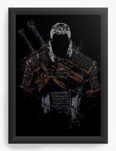 Quadro Decorativo A3 (45X33)  Whitcher Hunter  - Nerd e Geek - Presentes Criativos