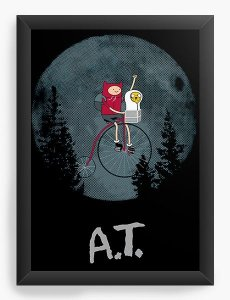 Quadro Decorativo A3 (45X33) Adventure Time Et - Nerd e Geek - Presentes Criativos