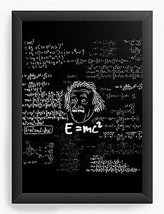 Quadro Decorativo A3 (45X33) Albert Einstein - Nerd e Geek - Presentes Criativos