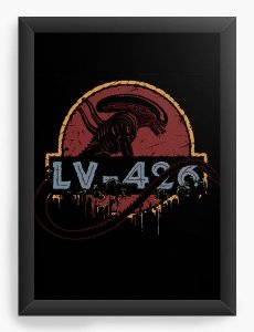 Quadro Decorativo A3 (45X33) Alien - Nerd e Geek - Presentes Criativos
