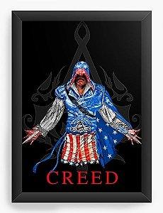 Quadro Decorativo A3 (45X33) Assassin's Creed - Nerd e Geek - Presentes Criativos