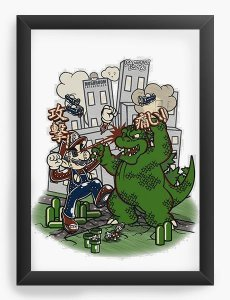 Quadro Decorativo A3 (45X33) Big in Japan - Nerd e Geek - Presentes Criativos