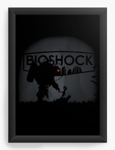 Quadro Decorativo A3 (45X33) Bioshock - Nerd e Geek - Presentes Criativos