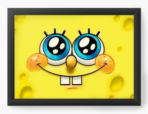 Quadro Decorativo A3 (45X33) Bob Esponja - Nerd e Geek - Presentes Criativos