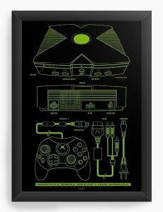 Quadro Decorativo A3 (45X33) Box - Nerd e Geek - Presentes Criativos