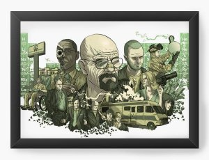 Quadro Decorativo A3 (45X33) Breaking Bad - Nerd e Geek - Presentes Criativos
