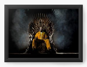 Quadro Decorativo A3 (45X33) Breaking Bad - Trono - Nerd e Geek - Presentes Criativos