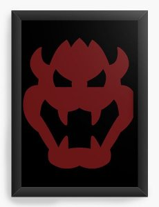 Quadro Decorativo A3 (45X33) Demon - Nerd e Geek - Presentes Criativos