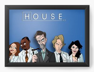 Quadro Decorativo A3 (45X33) Dr House - Nerd e Geek - Presentes Criativos