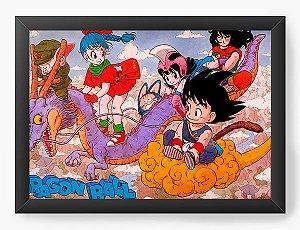 Quadro Decorativo A3 (45X33) Dragon Ball funny - Nerd e Geek - Presentes Criativos